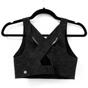 Lululemon | Sports Bra Size 32D Black and Gray
